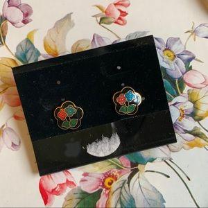 Vintage Cloisonné Earrings